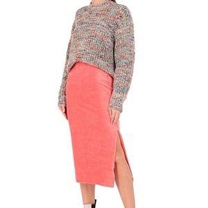 Free People Ribbed Tube Skirt